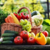 healthy food basket